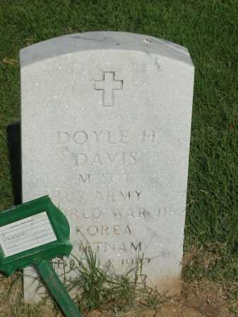 DAVIS (VETERAN 3 WARS), DOYLE H - Pulaski County, Arkansas | DOYLE H DAVIS (VETERAN 3 WARS) - Arkansas Gravestone Photos