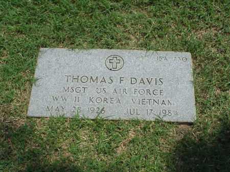 DAVIS (VETERAN 3 WARS), THOMAS F - Pulaski County, Arkansas | THOMAS F DAVIS (VETERAN 3 WARS) - Arkansas Gravestone Photos
