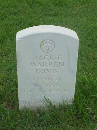 DAVIS (VETERAN KOR), JACKIE WARREN - Pulaski County, Arkansas | JACKIE WARREN DAVIS (VETERAN KOR) - Arkansas Gravestone Photos