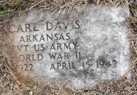 DAVIS (VETERAN WWII), CARL - Pulaski County, Arkansas | CARL DAVIS (VETERAN WWII) - Arkansas Gravestone Photos