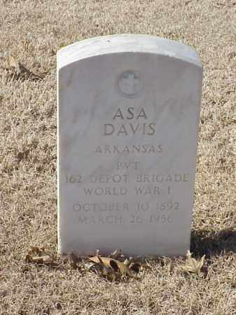 DAVIS (VETERAN WWI), ASA - Pulaski County, Arkansas | ASA DAVIS (VETERAN WWI) - Arkansas Gravestone Photos