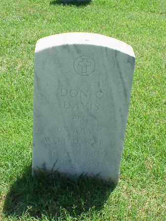 DAVIS (VETERAN WWI), DON O - Pulaski County, Arkansas | DON O DAVIS (VETERAN WWI) - Arkansas Gravestone Photos