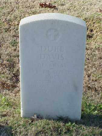 DAVIS (VETERAN WWI), DUKE - Pulaski County, Arkansas | DUKE DAVIS (VETERAN WWI) - Arkansas Gravestone Photos