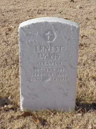 DAVIS (VETERAN WWI), ERNEST - Pulaski County, Arkansas | ERNEST DAVIS (VETERAN WWI) - Arkansas Gravestone Photos
