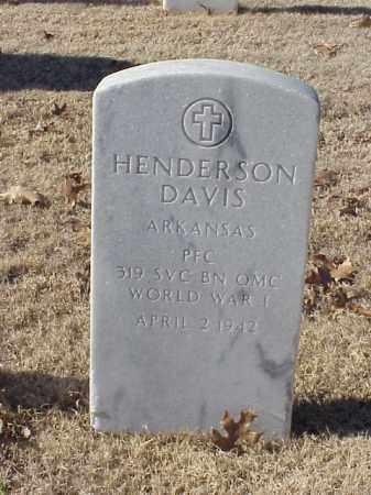 DAVIS (VETERAN WWI), HENDERSON - Pulaski County, Arkansas | HENDERSON DAVIS (VETERAN WWI) - Arkansas Gravestone Photos