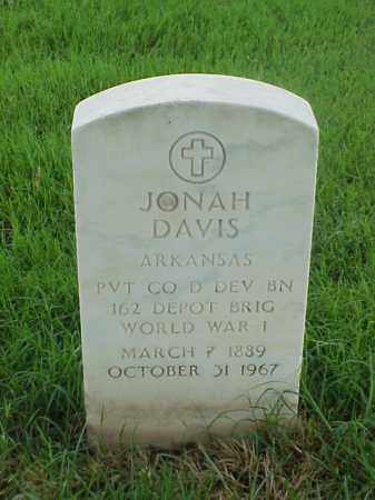 DAVIS (VETERAN WWI), JONAH - Pulaski County, Arkansas | JONAH DAVIS (VETERAN WWI) - Arkansas Gravestone Photos