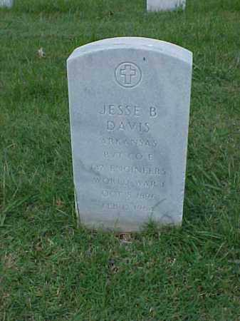 DAVIS (VETERAN WWI), JESSE B - Pulaski County, Arkansas | JESSE B DAVIS (VETERAN WWI) - Arkansas Gravestone Photos