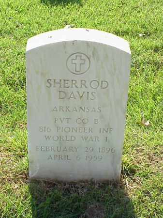 DAVIS (VETERAN WWI), SHERROD - Pulaski County, Arkansas | SHERROD DAVIS (VETERAN WWI) - Arkansas Gravestone Photos