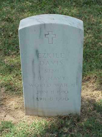 DAVIS (VETERAN WWII), EZKILE - Pulaski County, Arkansas | EZKILE DAVIS (VETERAN WWII) - Arkansas Gravestone Photos