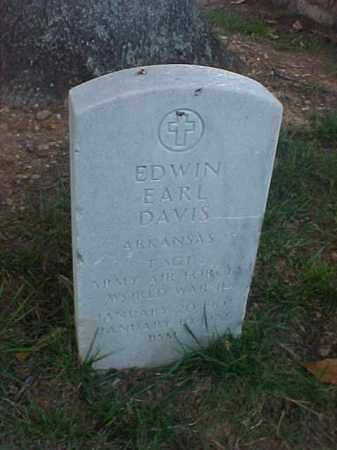 DAVIS (VETERAN WWII), EDWIN EARL - Pulaski County, Arkansas | EDWIN EARL DAVIS (VETERAN WWII) - Arkansas Gravestone Photos