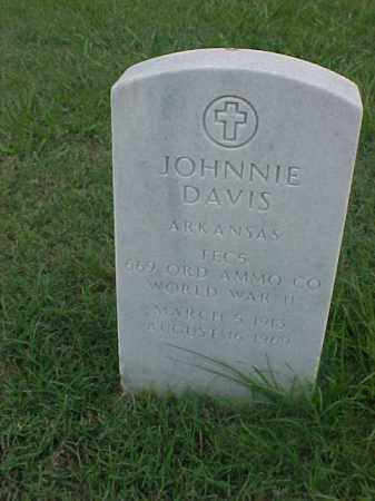 DAVIS (VETERAN WWII), JOHNNIE - Pulaski County, Arkansas | JOHNNIE DAVIS (VETERAN WWII) - Arkansas Gravestone Photos