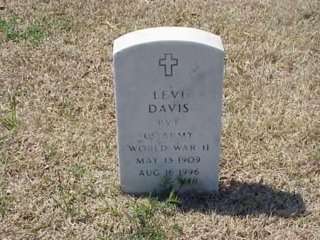 DAVIS (VETERAN WWII), LEVI - Pulaski County, Arkansas | LEVI DAVIS (VETERAN WWII) - Arkansas Gravestone Photos