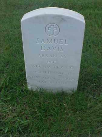 DAVIS (VETERAN WWII), SAMUEL - Pulaski County, Arkansas | SAMUEL DAVIS (VETERAN WWII) - Arkansas Gravestone Photos