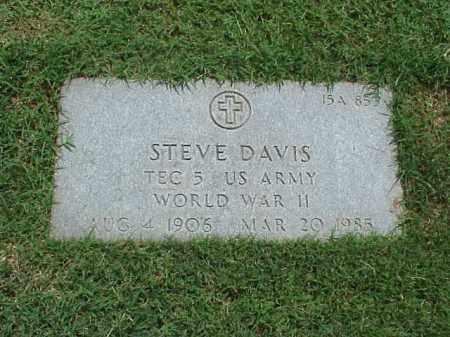 DAVIS (VETERAN WWII), STEVE - Pulaski County, Arkansas | STEVE DAVIS (VETERAN WWII) - Arkansas Gravestone Photos