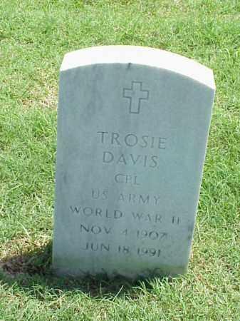DAVIS (VETERAN WWII), TROSIE - Pulaski County, Arkansas | TROSIE DAVIS (VETERAN WWII) - Arkansas Gravestone Photos