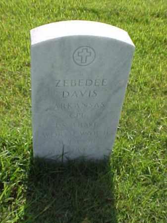 DAVIS (VETERAN WWII), ZEBEDEE - Pulaski County, Arkansas | ZEBEDEE DAVIS (VETERAN WWII) - Arkansas Gravestone Photos