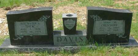 DAVIS, REV., WALTER A. - Pulaski County, Arkansas | WALTER A. DAVIS, REV. - Arkansas Gravestone Photos