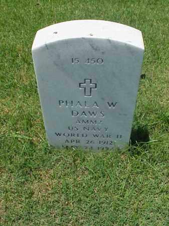 DAWS (VETERAN WWII), PHALA W - Pulaski County, Arkansas | PHALA W DAWS (VETERAN WWII) - Arkansas Gravestone Photos