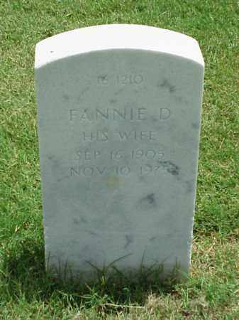 DAY, FANNIE D - Pulaski County, Arkansas | FANNIE D DAY - Arkansas Gravestone Photos