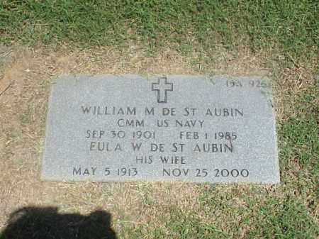 DE ST AUBIN, EULA W - Pulaski County, Arkansas | EULA W DE ST AUBIN - Arkansas Gravestone Photos
