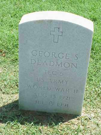 DEADMON (VETERAN WWII), GEORGE S - Pulaski County, Arkansas | GEORGE S DEADMON (VETERAN WWII) - Arkansas Gravestone Photos