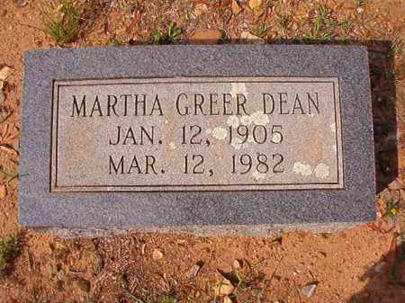 GREER DEAN, MARTHA - Pulaski County, Arkansas | MARTHA GREER DEAN - Arkansas Gravestone Photos
