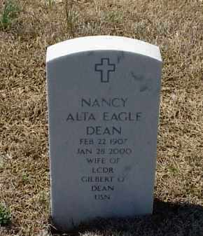 DEAN, NANCY ALTA EAGLE - Pulaski County, Arkansas | NANCY ALTA EAGLE DEAN - Arkansas Gravestone Photos