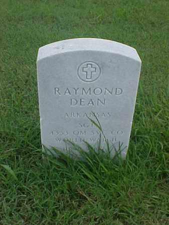 DEAN (VETERAN WWII), RAYMOND - Pulaski County, Arkansas | RAYMOND DEAN (VETERAN WWII) - Arkansas Gravestone Photos