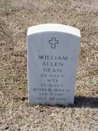 DEAN (VETERAN WWII), WILLIAM ALLEN - Pulaski County, Arkansas | WILLIAM ALLEN DEAN (VETERAN WWII) - Arkansas Gravestone Photos