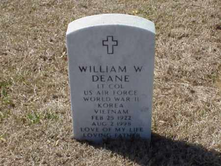 DEANE (VETERAN 3 WARS), WILLIAM W - Pulaski County, Arkansas | WILLIAM W DEANE (VETERAN 3 WARS) - Arkansas Gravestone Photos