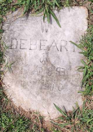 DEBEARY, JR, W - Pulaski County, Arkansas | W DEBEARY, JR - Arkansas Gravestone Photos