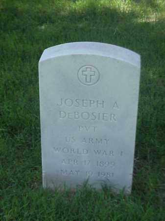 DEBOSIER (VETERAN WWI), JOSEPH A - Pulaski County, Arkansas | JOSEPH A DEBOSIER (VETERAN WWI) - Arkansas Gravestone Photos