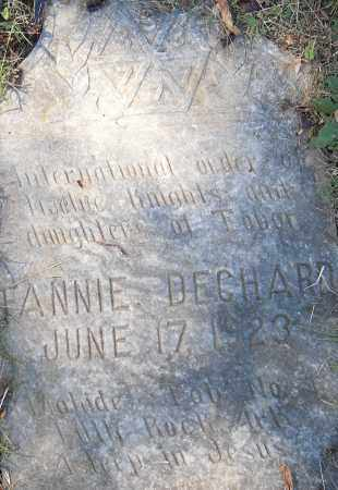DECHARD, FANNIE - Pulaski County, Arkansas | FANNIE DECHARD - Arkansas Gravestone Photos