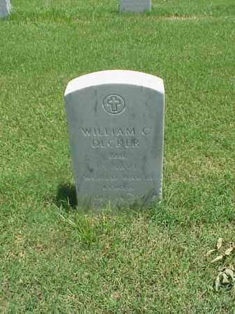 DECKER (VETERAN 2 WARS), WILLIAM C - Pulaski County, Arkansas | WILLIAM C DECKER (VETERAN 2 WARS) - Arkansas Gravestone Photos