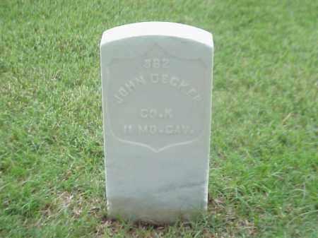 DECKER (VETERAN UNION), JOHN - Pulaski County, Arkansas | JOHN DECKER (VETERAN UNION) - Arkansas Gravestone Photos