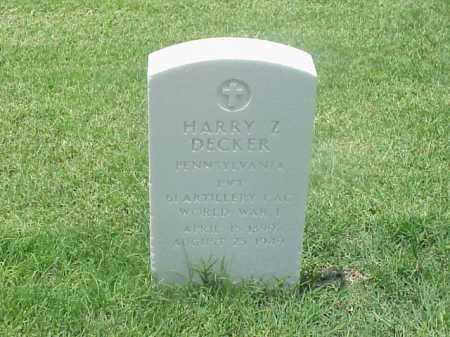 DECKER (VETERAN WWI), HARRY Z - Pulaski County, Arkansas | HARRY Z DECKER (VETERAN WWI) - Arkansas Gravestone Photos