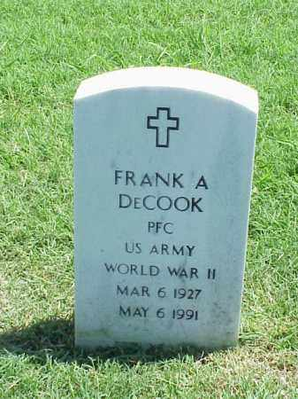DECOOK (VETERAN WWII), FRANK A - Pulaski County, Arkansas | FRANK A DECOOK (VETERAN WWII) - Arkansas Gravestone Photos