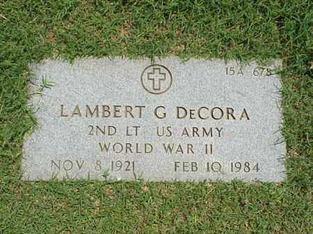 DECORA (VETERAN WWII), LAMBERT G - Pulaski County, Arkansas | LAMBERT G DECORA (VETERAN WWII) - Arkansas Gravestone Photos