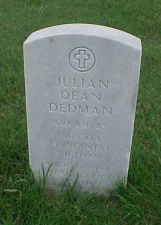 DEDMAN (VETERAN VIET), JULIAN DEAN - Pulaski County, Arkansas | JULIAN DEAN DEDMAN (VETERAN VIET) - Arkansas Gravestone Photos