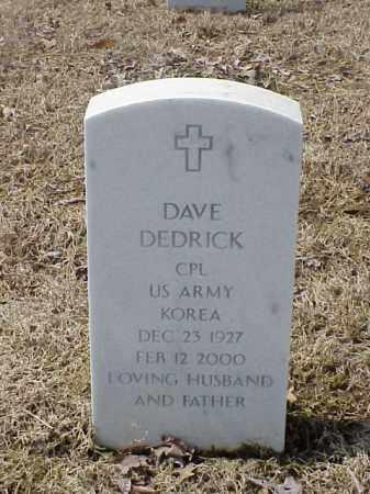 DEDRICK  (VETERAN KOR), DAVE - Pulaski County, Arkansas | DAVE DEDRICK  (VETERAN KOR) - Arkansas Gravestone Photos