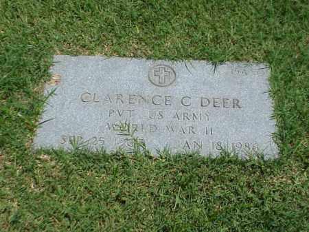 DEER (VETERAN WWII), CLARENCE C - Pulaski County, Arkansas | CLARENCE C DEER (VETERAN WWII) - Arkansas Gravestone Photos