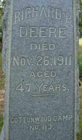 DEERE, RICHARD P. (CLOSE UP) - Pulaski County, Arkansas | RICHARD P. (CLOSE UP) DEERE - Arkansas Gravestone Photos