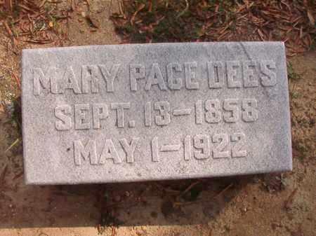 PACE DEES, MARY - Pulaski County, Arkansas | MARY PACE DEES - Arkansas Gravestone Photos