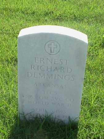 DEMMINGS (VETERAN WWII), ERNEST RICHARD - Pulaski County, Arkansas | ERNEST RICHARD DEMMINGS (VETERAN WWII) - Arkansas Gravestone Photos