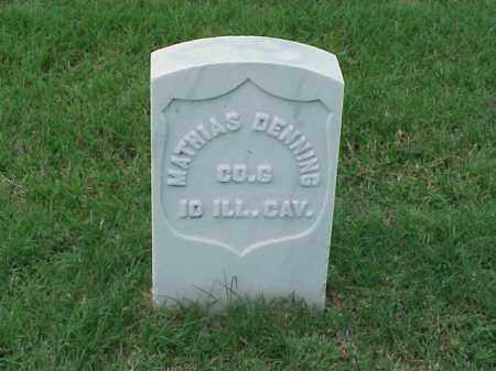 DENNING (VETERAN UNION), MATTHIAS - Pulaski County, Arkansas | MATTHIAS DENNING (VETERAN UNION) - Arkansas Gravestone Photos