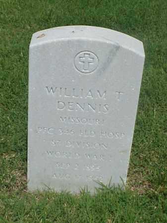 DENNIS (VETERAN WWI), WILLIAM T - Pulaski County, Arkansas | WILLIAM T DENNIS (VETERAN WWI) - Arkansas Gravestone Photos
