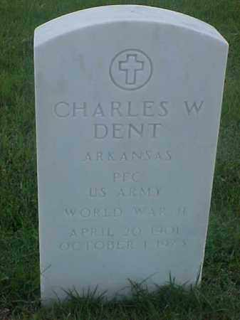 DENT (VETERAN WWII), CHARLES W - Pulaski County, Arkansas | CHARLES W DENT (VETERAN WWII) - Arkansas Gravestone Photos