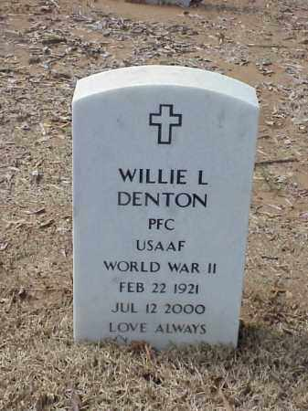 DENTON  (VETERAN WWII), WILLIE L - Pulaski County, Arkansas | WILLIE L DENTON  (VETERAN WWII) - Arkansas Gravestone Photos