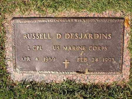 DESJARDINS (VETERAN), RUSSELL D - Pulaski County, Arkansas | RUSSELL D DESJARDINS (VETERAN) - Arkansas Gravestone Photos