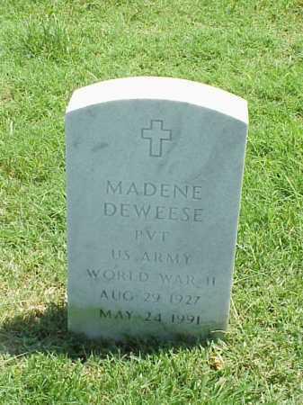 DEWEESE (VETERAN WWII), MADENE - Pulaski County, Arkansas | MADENE DEWEESE (VETERAN WWII) - Arkansas Gravestone Photos